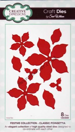 Classic Poinsettia Craft Dies by Sue Wilson CED3008